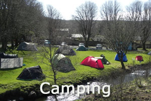 Camping at Tobermory Campsite